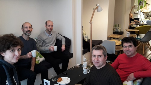 L'équipe de l'english breakfast  du samedi 20/02 chez myCowork :)