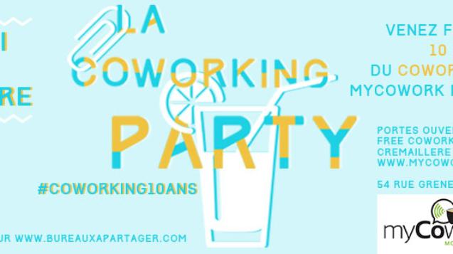 crémaillère myCowork pour les 10 ans du coworking