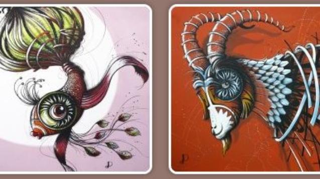 Exposition de Mars et Avril chez myCowork Montorgueil et Beaubourg : Denis Poughon et ses drôles de bêtes :)