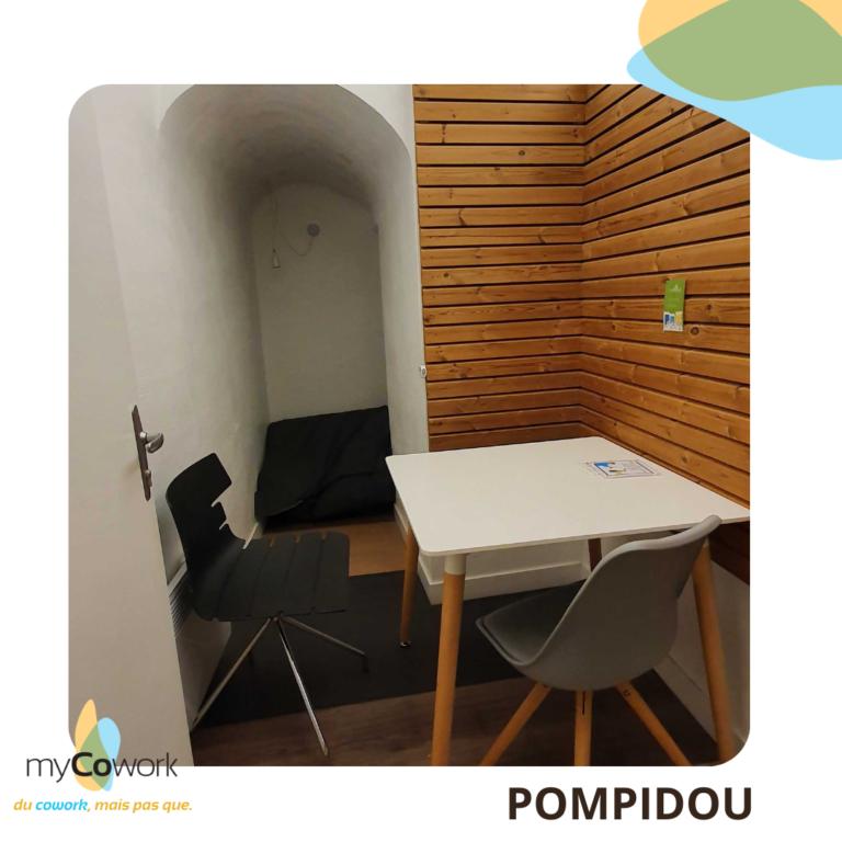 SALLE Pompidou - petite salle en sous-sol pour 1 à 2 personne - appel, skype - réservé à nos coworkers