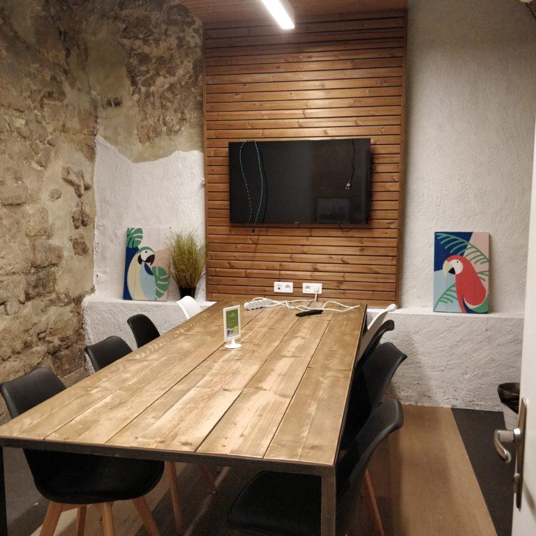 Salle de réunion DALI 8 pers - myCowork Beaubourg 3 - espace de coworking Paris4 - implantation réunion