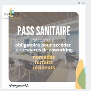 pass sanitaire chez myCowork